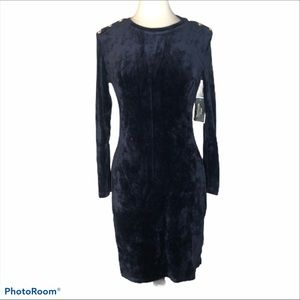 Juicy Couture Black Label Velour Stretch Dress M